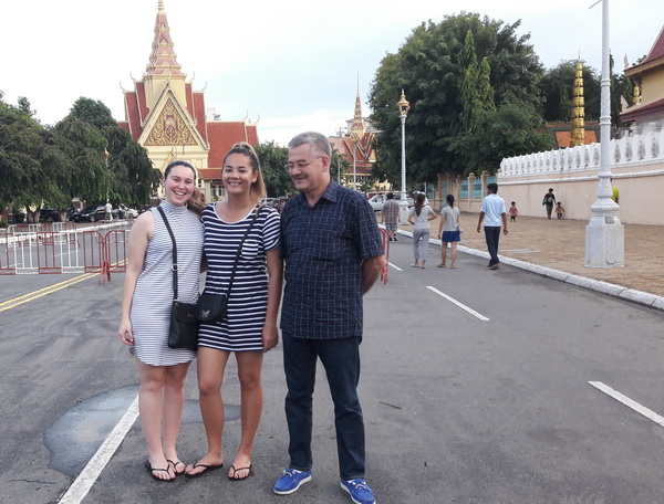 ED In Phnom Penh with my daughter and friend