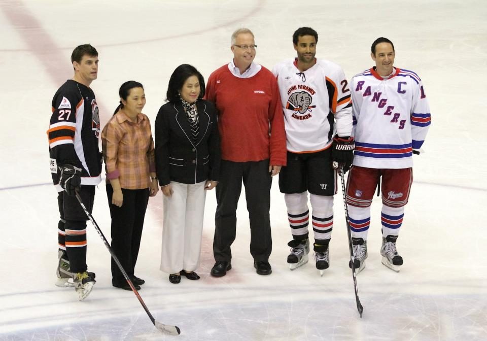 ambassador at charity game